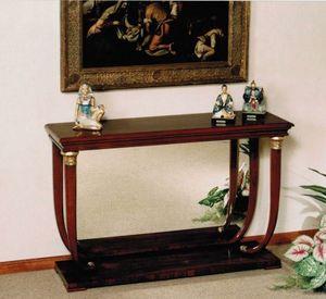 M 400, Consolle in stile impero, con piano in legno o marmo