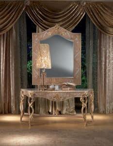 MB44 Vanity, Consolle in legno, decori foglia oro, stile classico
