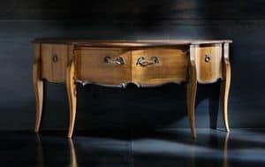 Museum Art. 03.831, Consolle classica con piano in ciliegio anticato
