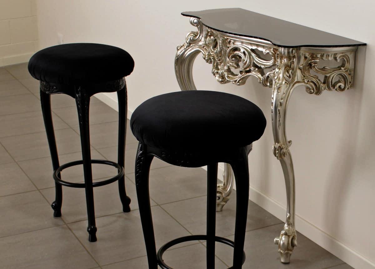 Consolle intagliata in stile classico barocco idfdesign for Consolle di design