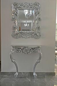 Sensual consolle marmo, Consolle stile barocco, in legno massello intagliato