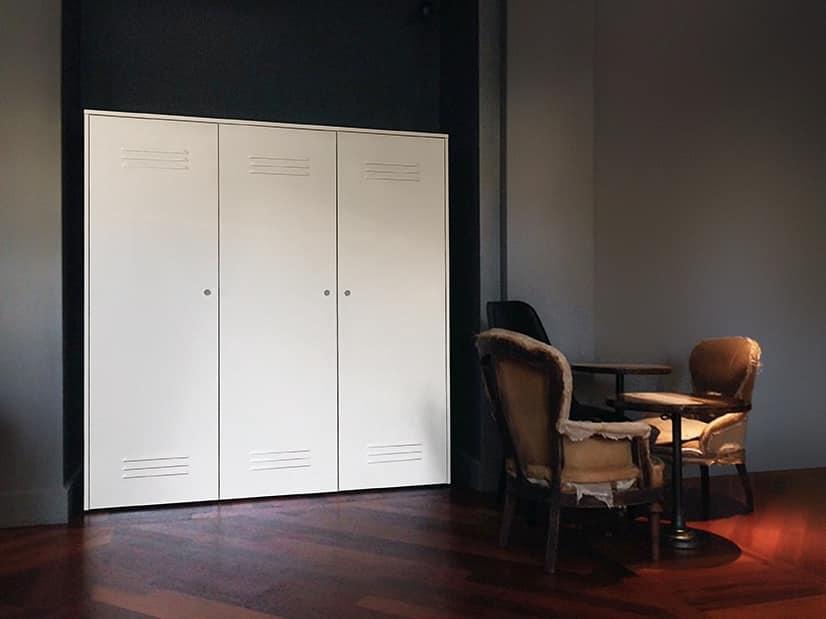 CITYBOX comp.08, Contenitori modulari in acciaio, per uffici e palestre