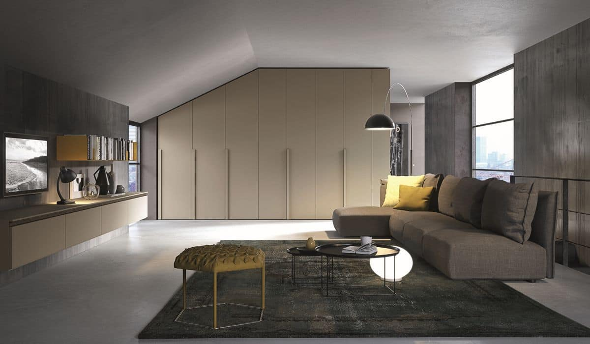 One n10 armadio moderno con ante battenti ideale per zona for Armadio dispensa moderno