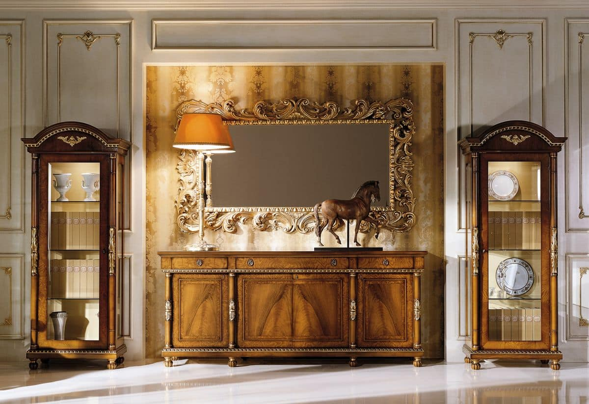 Di Noce E Radica Di Frassino Bianco Per Sala Da Pranzo In Stile #A16B2A 1200 824 Sala Da Pranzo In Noce