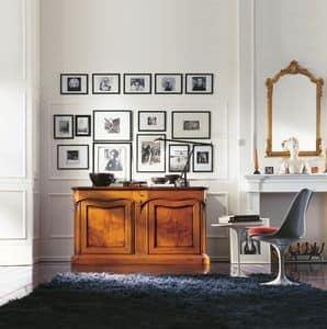 800, Credenza classica di lusso per la casa, con 2 ante