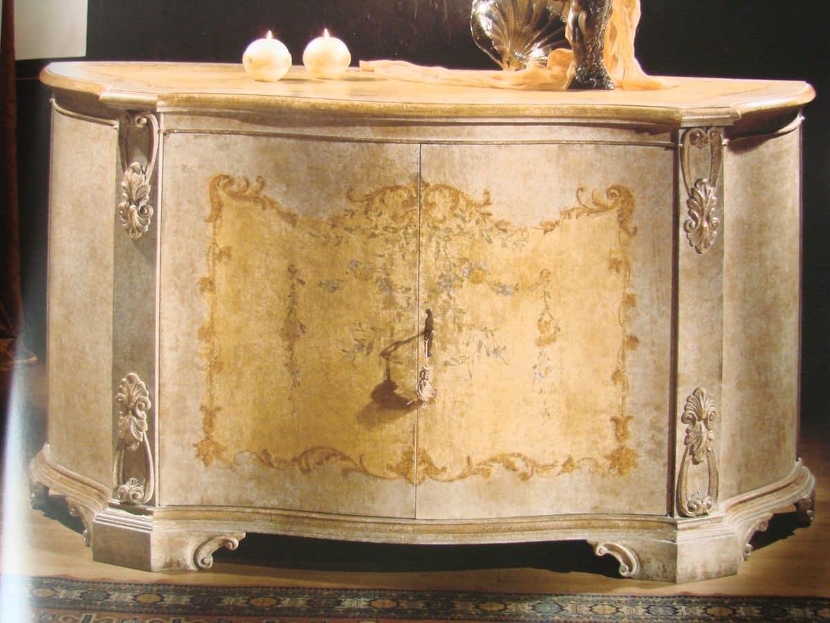 Pin Art 1673 1 Credenza 2 Ante Per Sala Da Pranzo Credenza Classica  #A06E2B 1200 900 Sala Da Pranzo Dell'antica Casa Romana