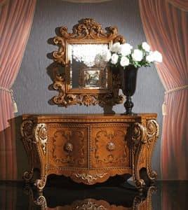 Art. 340, Credenza di lusso in legno, con intarsi artigianali
