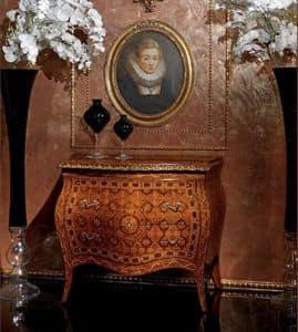 Art. 400, Credenza in stile classico con 2 cassetti, in legno decorato