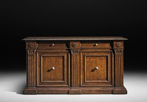 Art. 800 credenza, Credenza classica, con maniglioni in ottone