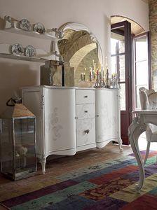 Carpi credenza, Credenza classica con decorazioni realizzate a mano