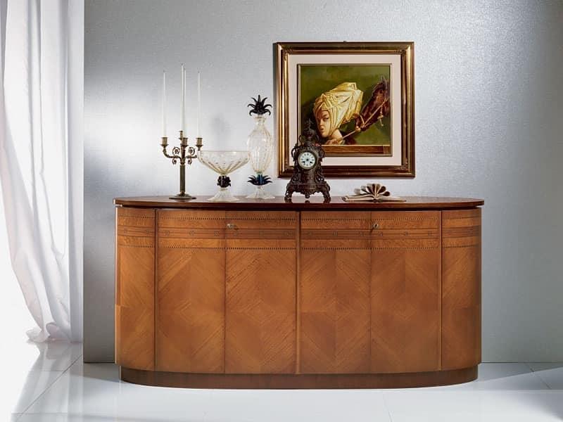 Credenza in legno forma ovale in stile classico di lusso - Carpanelli mobili ...