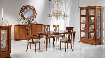Credenza in legno forma ovale in stile classico di lusso idfdesign - Carpanelli mobili ...