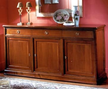 Credenze legno credenza arredamento classico perla 3 ante for Arredamento classico lusso