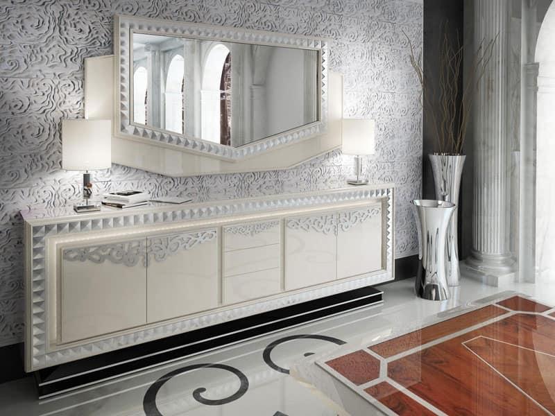 Credenza Con Cassetti : Credenza con cassetti stile classico di lusso idfdesign