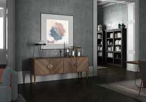 Intrigue credenza, Credenza classica contemporanea, con 4 ante battenti