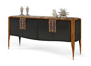 LEXINGTON AVENUE Credenza, Credenza di lusso in legno intarsiato