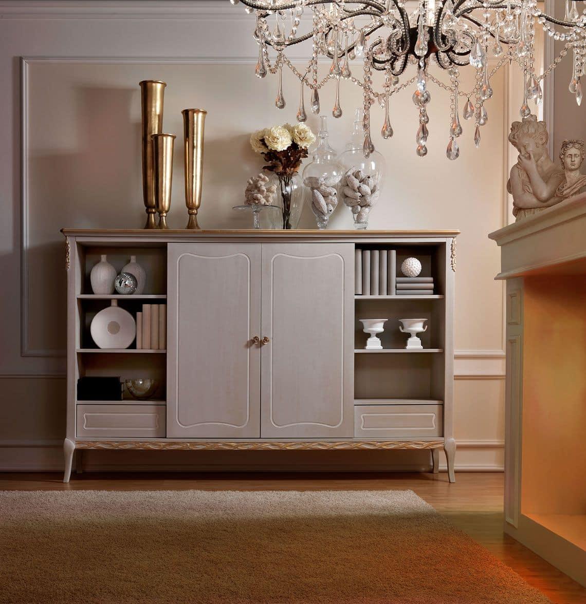 Mobile bar in legno, dallo stile classico, per soggiorno | IDFdesign