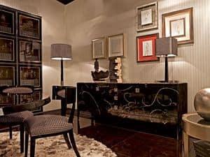 Luxury cubica libreria librerie in legno decorato - Salotti e sale da pranzo ...