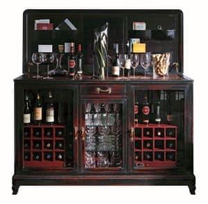 Marie BR.0005.C2, Mobile winw bar con due climatizzatori, vano centrale per bicchieri, piano in metallo