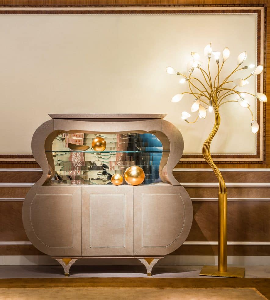 Buffet musicale in pelle in stile classico idfdesign for Mobili lussuosi