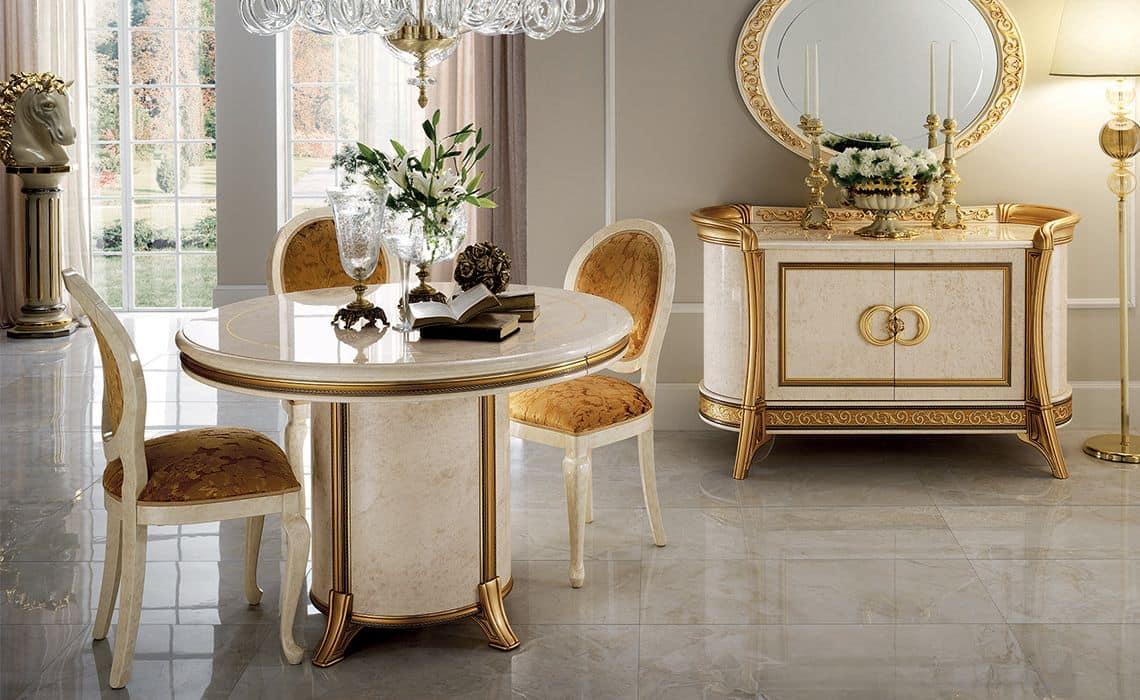 Buffet classico 3 ante per sala da pranzo idfdesign for Mobili lussuosi