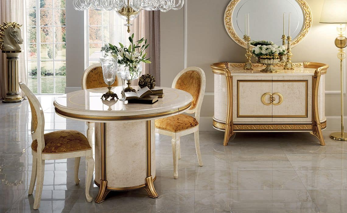 Buffet classico 3 ante per sala da pranzo idfdesign for Mobili per camera da pranzo