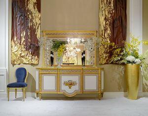 Mobile 1440 STILE LUIGI XVI, Mobiletto classico con  intarsi floreali