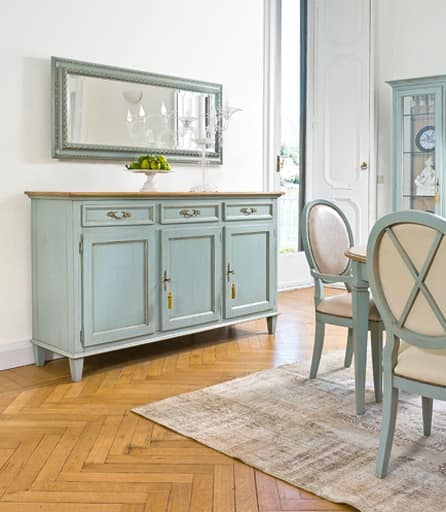 Credenza laccata classica di lusso per sala da pranzo for Stile casa classica