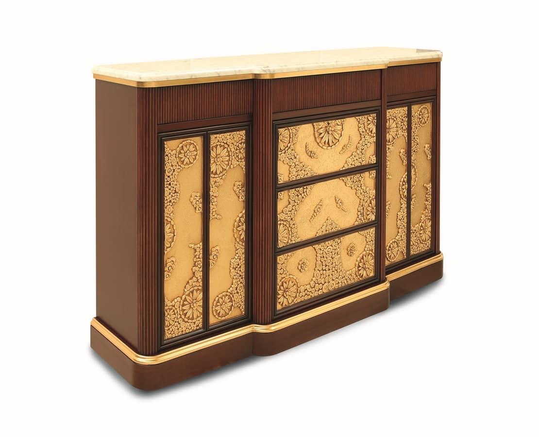 Mobile da soggiorno stile art dec con piano in marmo for Designer di mobili francesi art deco