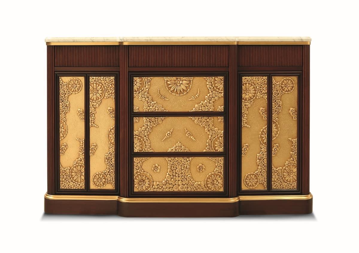 Mobile da soggiorno stile art dec con piano in marmo idfdesign - Deco mobili store ...