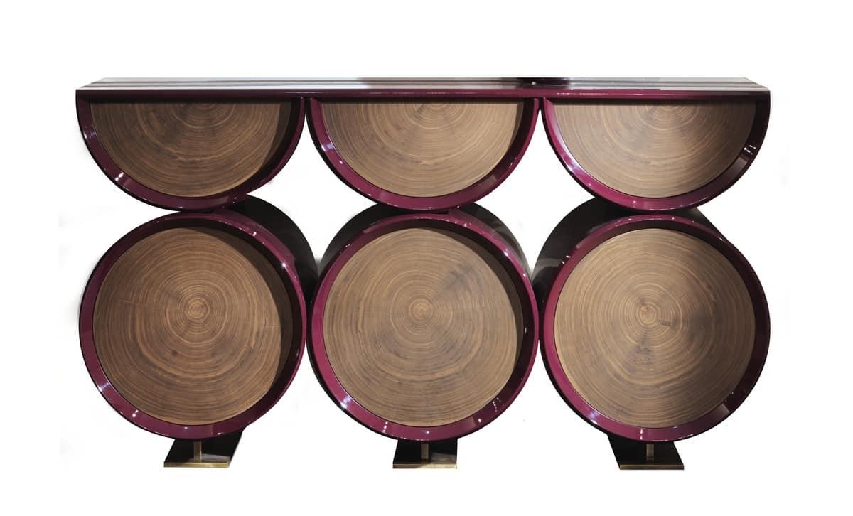 La Credenza Poesia : Credenza in legno laccato con forma di botte idfdesign