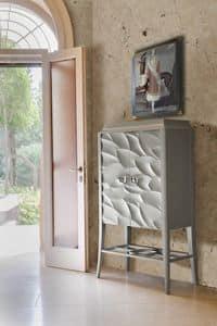 Art. VL444F, Mobiletto per la zona living, in legno personalizzabile