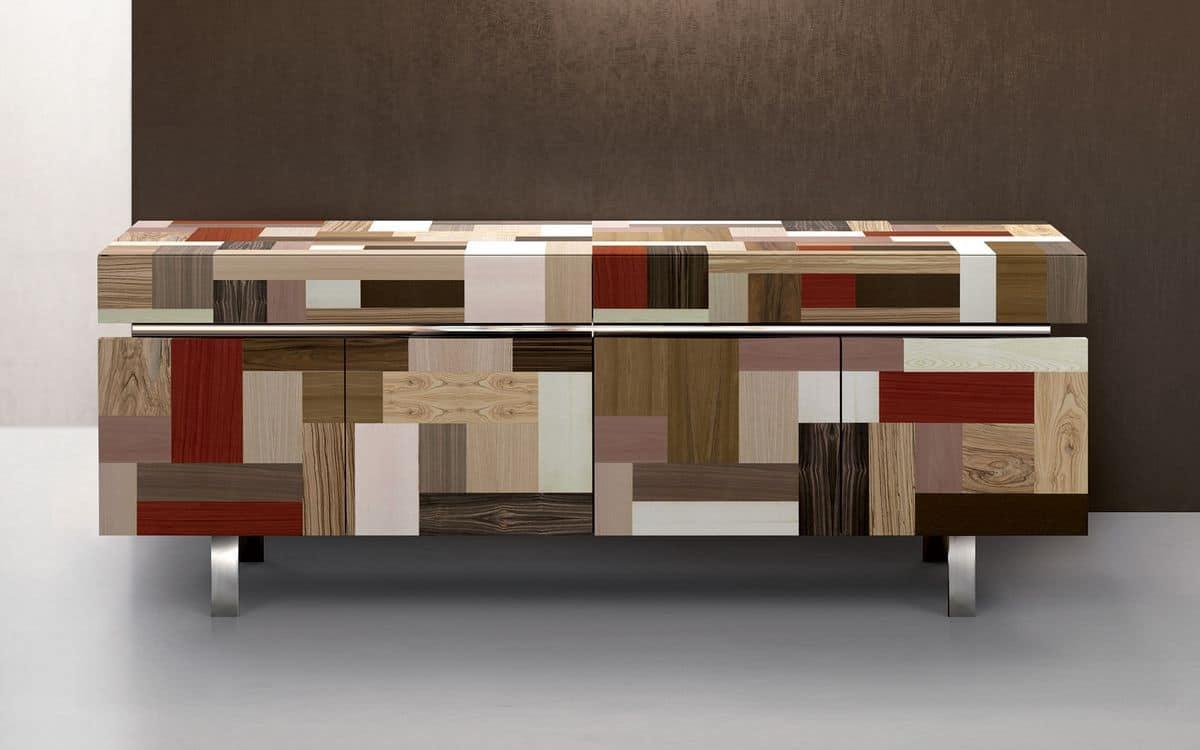 Camera colori creativo da letto for Credenze sala da pranzo moderne