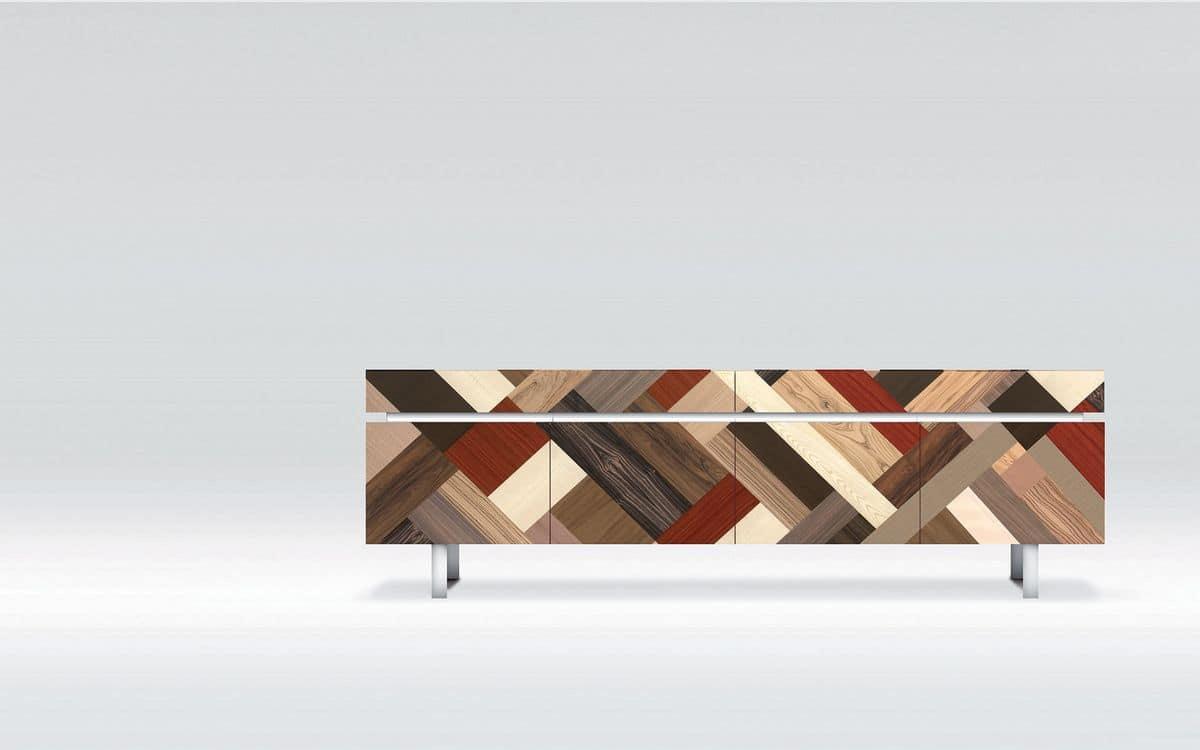 Credenza Per Mansarda : Credenza design ideale per ambienti residenziali moderni 4 ante