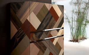 ATHENA QUADRA PW45, Credenza realizzata a mano, inserti di essenze pregiate, adatta per ambienti residenziali eleganti