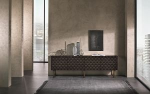 CR63B Square credenza, Credenza dal design contemporaneo