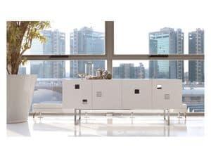 Cubox, Credenza bianca opaco o lucido, stile moderno