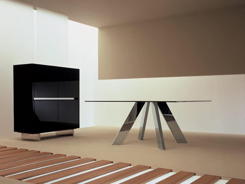 Credenza Da Design : Credenza con base in acciaio per sale da pranzo idfdesign