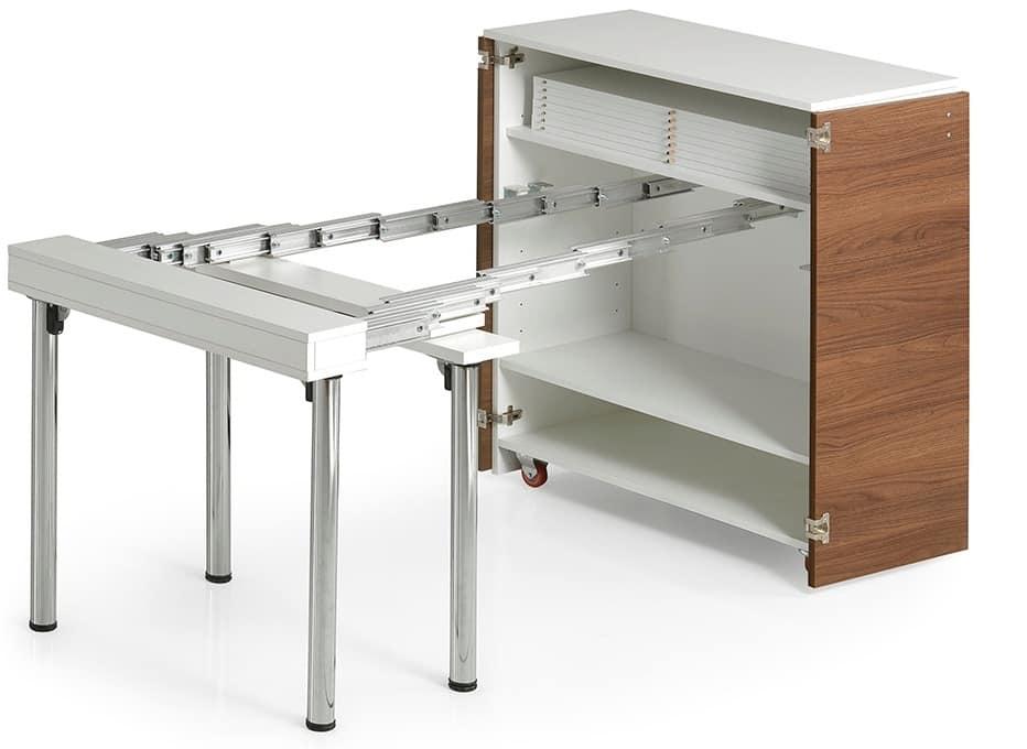Ghost, Mobile trasformabile in tavolo allungabile