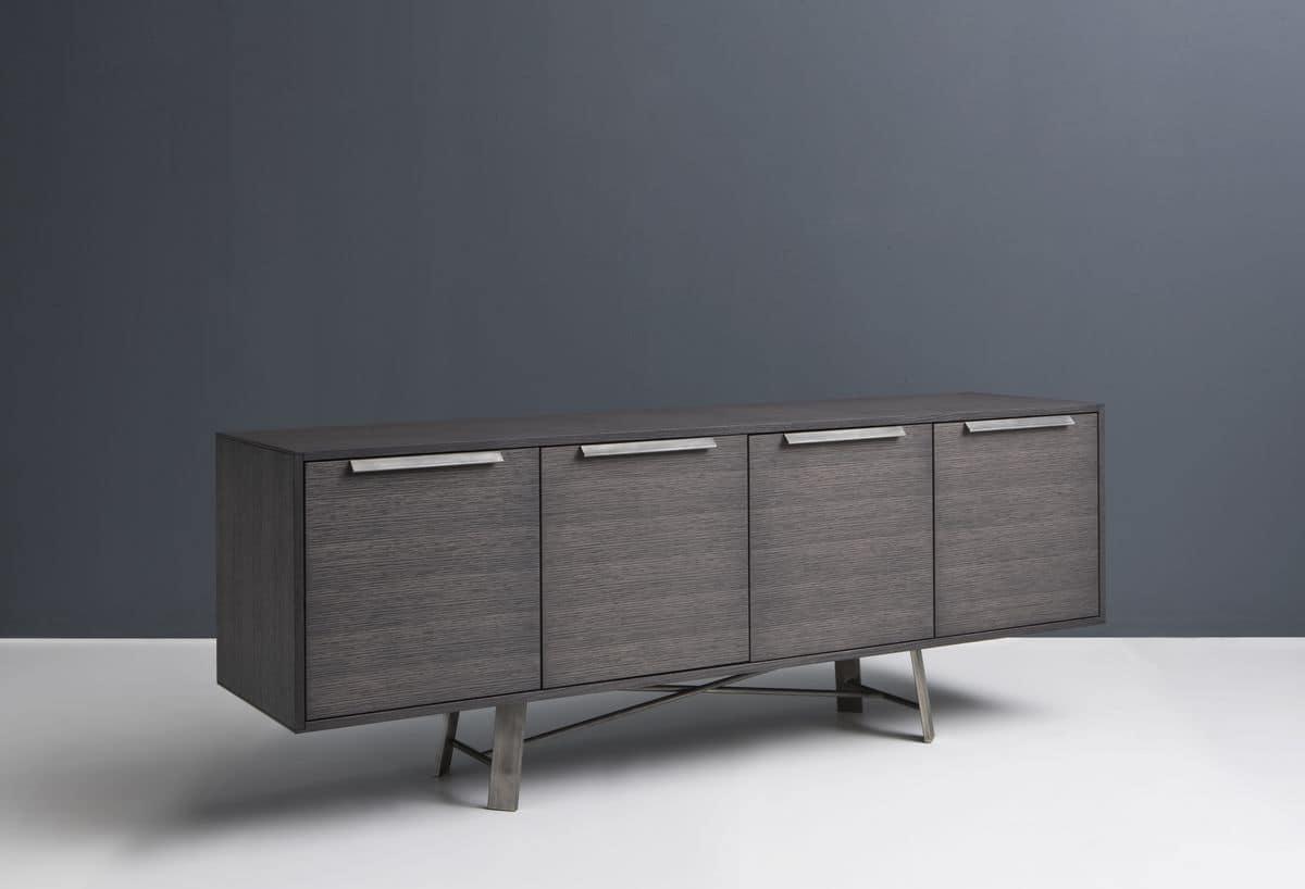 Credenza Moderna Sala Da Pranzo : Madia in legno con ante ideale per sala da pranzo moderna