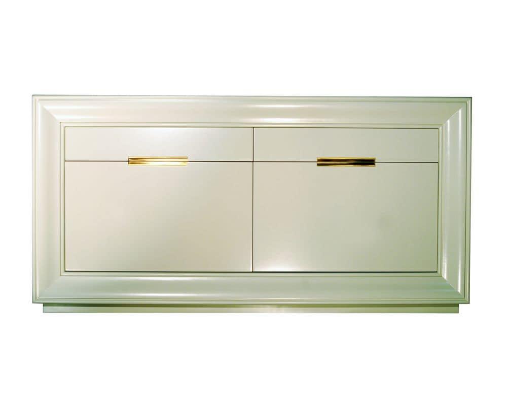 Credenza Con Rotelle : Credenza in noce con porte e cassetti stile classico idfdesign