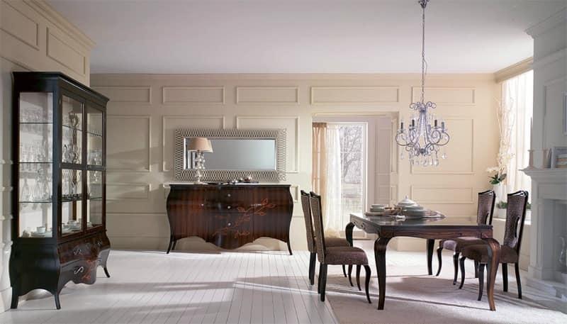 Credenza classica mobile ad ante eleganti credenze in for Credenze sala da pranzo moderne