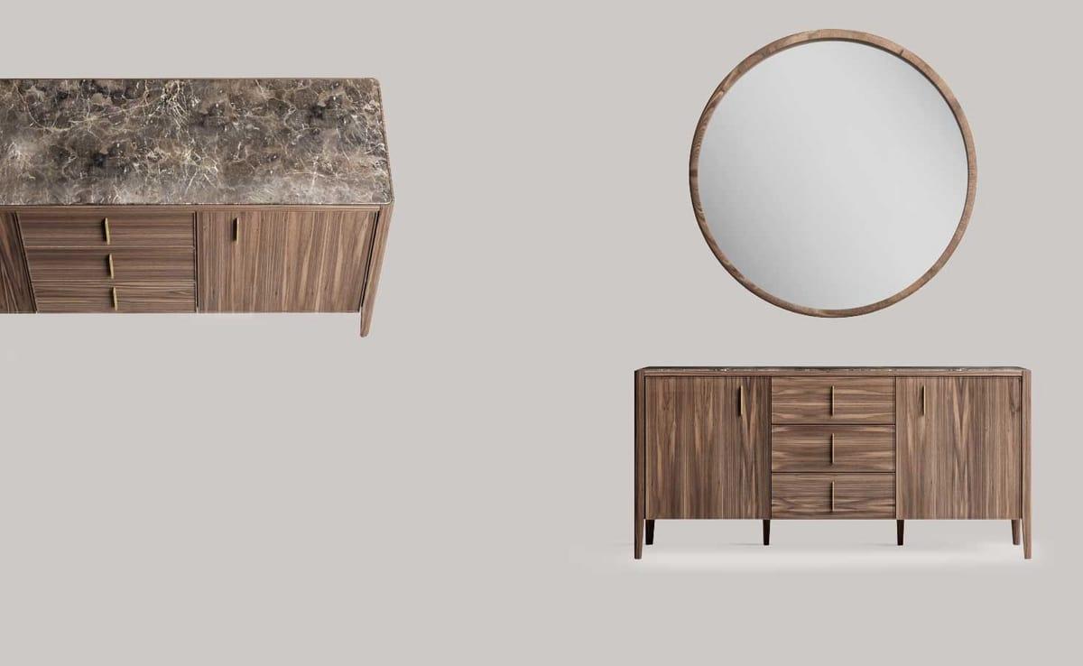 Credenza Con Ripiano In Marmo : Credenza moderna con piano in marmo idfdesign
