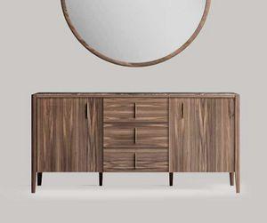 Sunrise credenza, Credenza moderna con piano in marmo