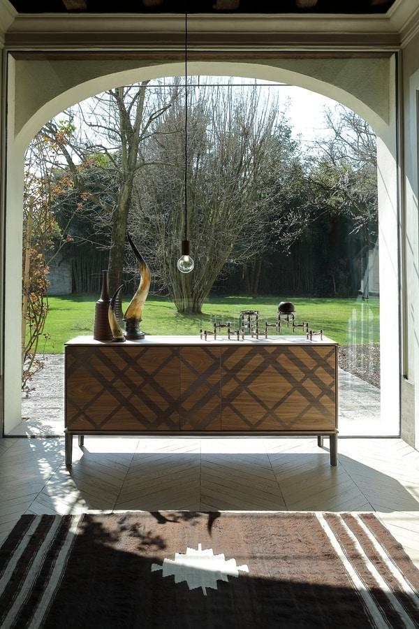 TARTAN, Madia in legno e metallo