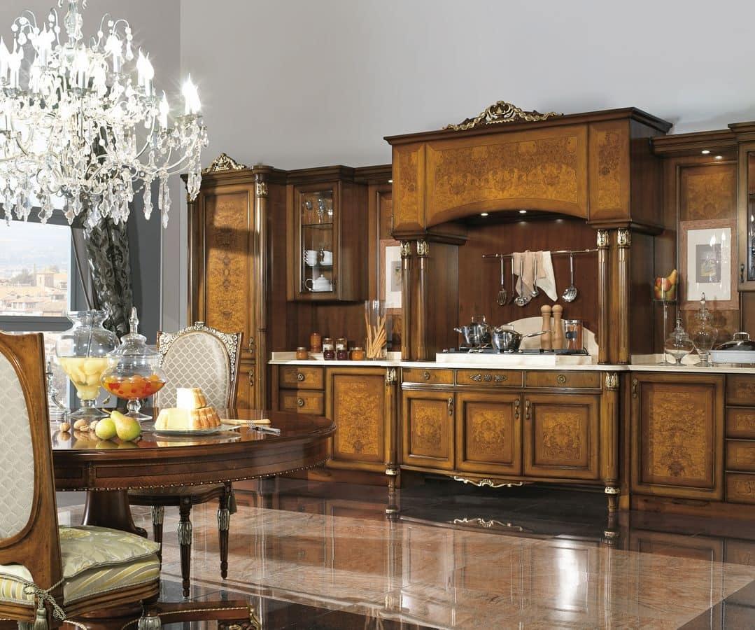 Cucina classica di lusso in noce e radica di frassino - Cucine di lusso tedesche ...