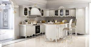 Vittoria Cucina, Cucina classica in legno intagliato, top in marmo