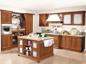 '800 cucina 200, Cucina in stile classico, in noce nazionale