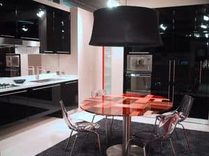 BLACK, Cucina sofisticata con arredi sospesi, in vari colori