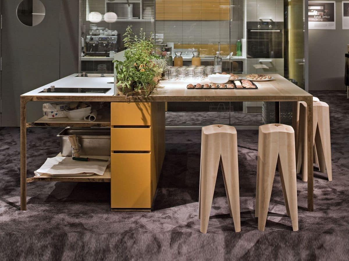 Cucine ad isola per ambienti di lavoro idfdesign - Isola lavoro cucina ...